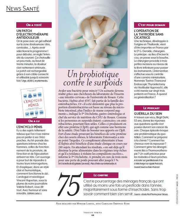 Article sur le podcast guerilla du sein dans le journal Version Femina du 25 au 29 décembre 2019